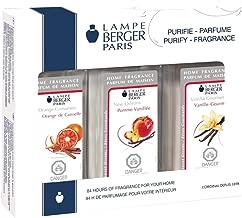 Lampe Berger Fragrance Trio Pack Warm , New Orleans-Orange Cinnamon-Vanilla Gourmet, 3 x 180ml / 6.08 fl.oz.