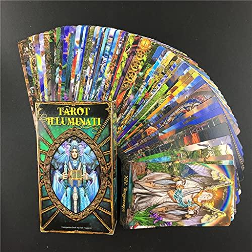 FEZD Tarot Illuminati Kitkarten Mit 78 Hellen Tarotkarten, Mit Exquisiten Gemälden, Die Für Familien, Party Und Unterhaltung (Verpackung, Tischdecken) Geeignet Sind (Verpackung, Tischdecken)