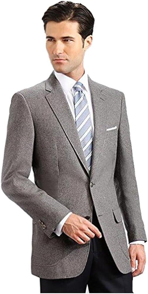 Men's Elegant Modern 2 Button Notch Lapel Blazer - Many Colors (38 X-Long, Grey)