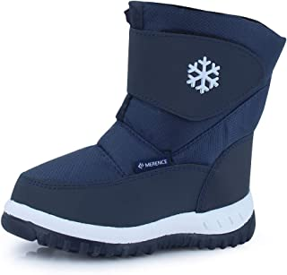 Winter Snow Boots for Boy and Girl Outdoor Waterproof with Fur Lined(Toddler/Little Kids)