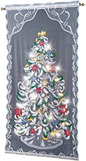 Trenton Gifts Christmas Tree Curtain Panel | Lighted | Multi-Color | 40