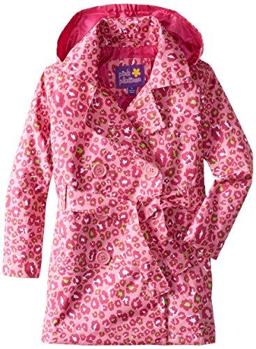 Pink Platinum Girls' Multicolor Animal Trench Jacket