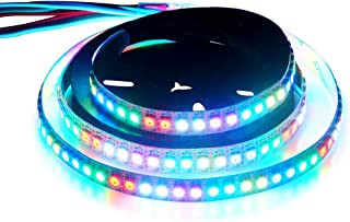 WS2815 (12V WS2812B) LED 1M 144 Pixels Aclorol Individual Addressable 5050 RGB LED Flex Strip Light Non-Waterproof White PCB DC 12V
