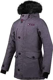 FXR Svalbard Parka Womens Snow Jacket Mid Gray Heather/Plum 6 USA