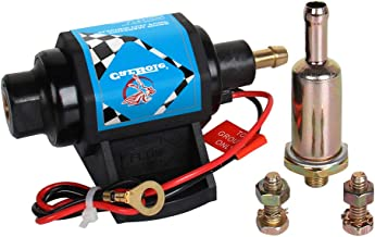 CarBole Micro Electric Gasoline Fuel Pump Universal 5/16 inch Inlet and Outlet 12V 1-2A 35GPH 4-7 P.S.I. Operating Fuel Pressure 2-wire Design