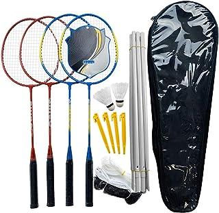 Roeam Outdoor Sports Badminton Rackets Set, 2 Pair Badminton Rackets for Kids Adult,with Birdies, Net, Adjustable Polls Be...