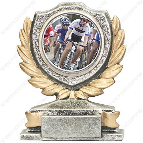 tecnocoppe Trofeo Ciclismo h 12,00 cm Targhetta Personalizzata Omaggio
