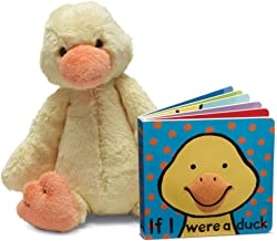 Jellycat Book and Stuffed Animal Gift Set, If I were a Duck Board Book and Bashful Duck