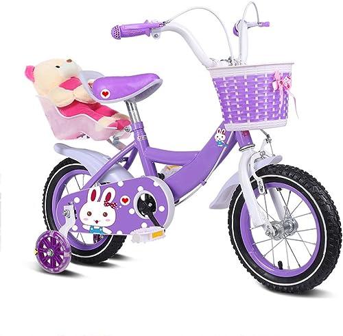 ZCRFY Enfants Vélo 2-10 Ans Filles Enfants Bébé Vélo Réglable Enhanced Tires Femme Coffre-Fort Confortable pour Les Tout-Petits équilibre Vélo Cadeau De Mode