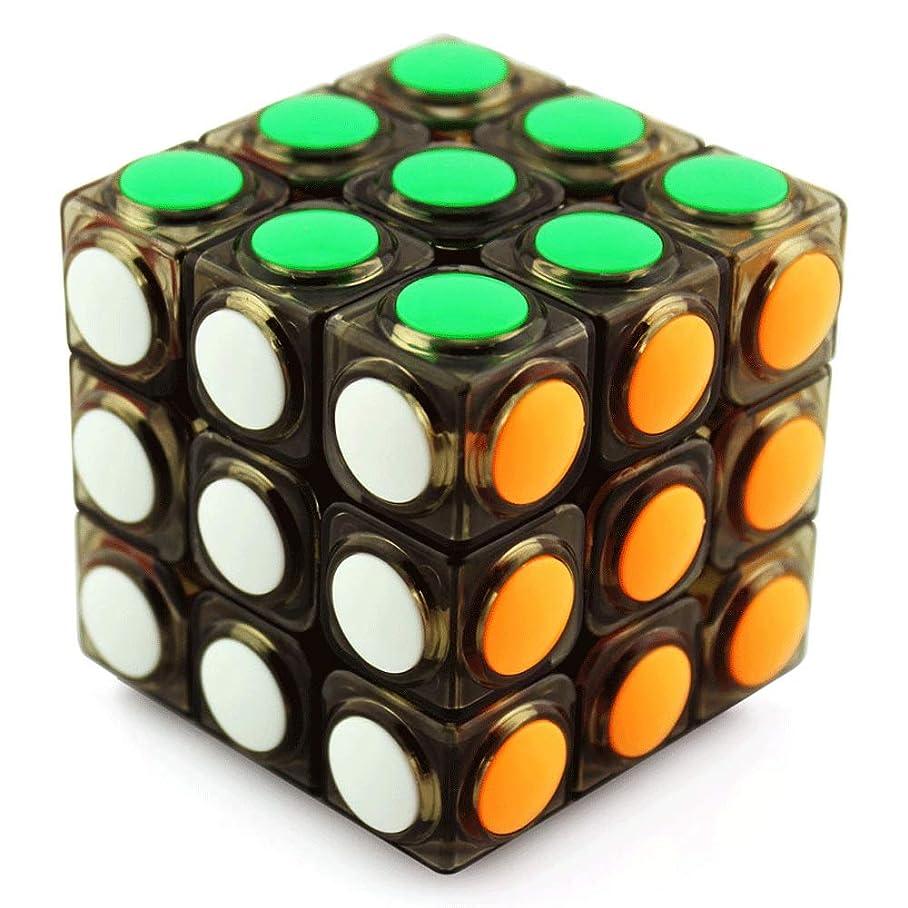 アストロラーベ胚芽吸うL-H ルービックキューブ/スムーズマジックスピードキューブ/子供の初心者パズルゲームのおもちゃ/脳の体操、仕事減圧不安減圧おもちゃ、6x6x6cmドット透明キューブ、誰にでも適しています (Color : Black, Size : 6x6x6cm)