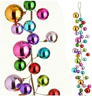 Multicolored Ornament Ball Garland, 4 Feet