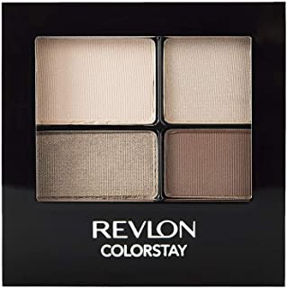 REVLON ColorStay 16 Hour Eyeshadow Quad with Dual-Ended Applicator Brush, Longwear, Intense Color Smooth Eye Makeup for Da...