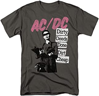 ACDC Dirty Deeds Rock Album T Shirt & Stickers