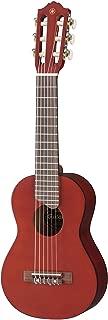 Yamaha GL1 Guitalele Mini Guitarra de Madera con las dimensiones de un Ukelele, escala de 17 pulgadas, 6 cuerdas (3 en nylon / 3 en acero), Color Canela (Persimmon Brown)