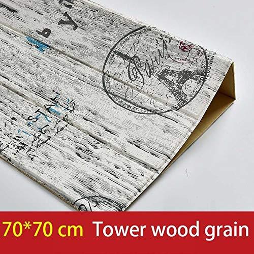 LZYMLG 3d Holz Wandaufkleber Wohnzimmer Wohnkultur Pe Schaum Wasserdichte Wandverkleidung Tapete Für Tv Hintergrund Kinderzimmer 3d Aufkleber Turm Holzmaserung