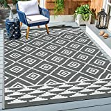 HEBE Large Outdoor Rug 5'x7' Plastic Straw Rug Reversible RV Patio Mat Clearance Outside Rugs for RV, Patio, Backyard, Deck, Picnic, Beach, Trailer, Camping
