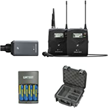 Sennheiser ew 100 ENG G4 Wireless Microphone Combo System A1: (470 to 516 MHz) with SKB iSeries Waterproof System Case and 4-Hour Rapid Charger (4 AA Rechargeable Batteries)
