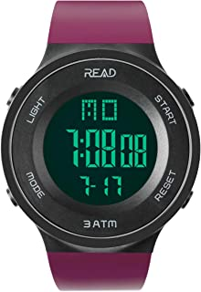 Read Sports Digital Watch for Men Women, Outdoor Military Watches with Alarm, Stopwatch, Calendar, LED Display and Shockproof R90003