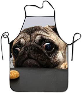 2018 pants Pug Bib Apron for Women and Men - Adjustable Neck Strap - Restaurant Home Kitchen Apron Bib for Cooking, Grill and Baking, Crafting, Gardening, BBQ