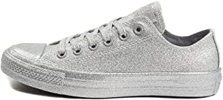 silver sparkly converse high tops