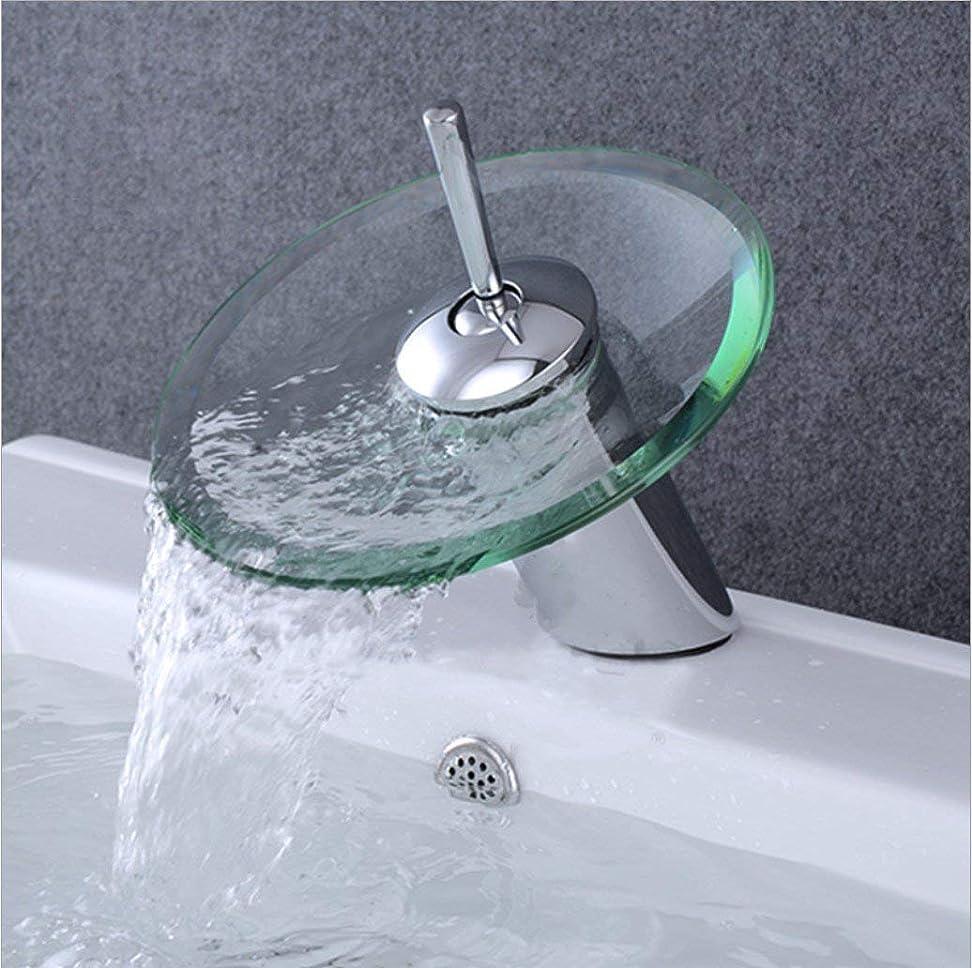 教義習慣操る洗面器の蛇口の浴室の洗面器の洗面器の鋼鉄滝の洗面器のガラス洗面器の単一の穴の熱いおよび冷たい混合の蛇口