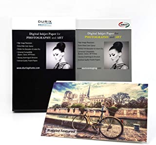 DURIX Rugged Textured 315GSM Watercolor Textured Fineart Digital Inkjet Photo Paper (17-x-22/25 sheets)