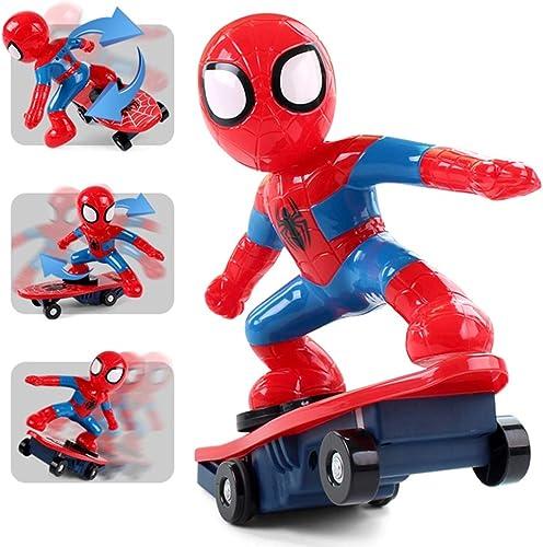 MYMAO 01Voiture Jouet, Spiderhomme Scooter 2.4 G Stunt Voiture de Contrôle à Distance des Enfants Jouet Spiderhomme Scooter