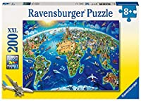 Ravensburgerの世界のランドマークの地図XXL 200ピースジグソーパズル