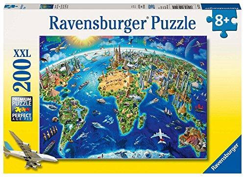 Ravensburger Kinderpuzzle 12722 - Große, weite Welt 200 Teile XXL - Puzzle für Kinder ab 8 Jahren