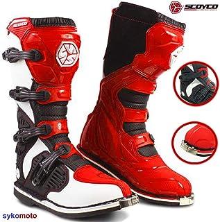 d3a2151b SCOYCO MBM001 Motocross Off Road Botas Protector Impermeable Enduro ATV  Trials Quad Carreras Kart Zapatillas Deporte