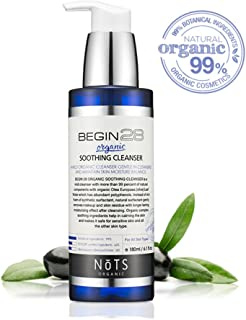 Best Organic Soothing Cleanser - Mild Face Wash with 99% of Natural Components - Deep Skin Cleansing as Olive Leaf Water which has Abundant Polyphenols - Korea Cosmetic