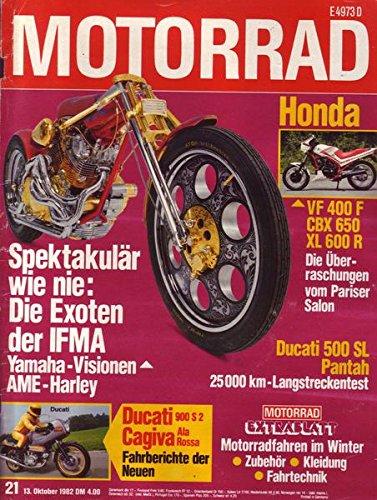 Motorrad Nr. 21/1982 13.10.1982 Spektakulär wie nie: Die Exoten der IFMA Yamaha-Visionen AME-Harley