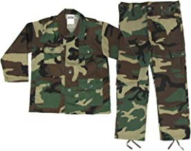 Kids Woodland BDU Uniform 2 Piece Set - Kids Military Costume