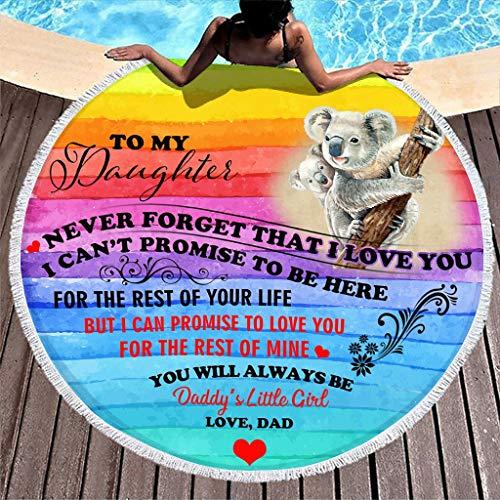 Yzanswer Koala To My Daughter Love - Toalla de playa colorida con manta para niños, mujeres, hombres, chico y niña, 150 cm