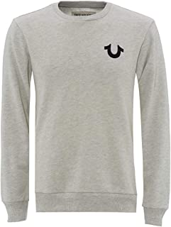 True Religion - Buddha Crew Neck Sweatshirt, Heather Grey