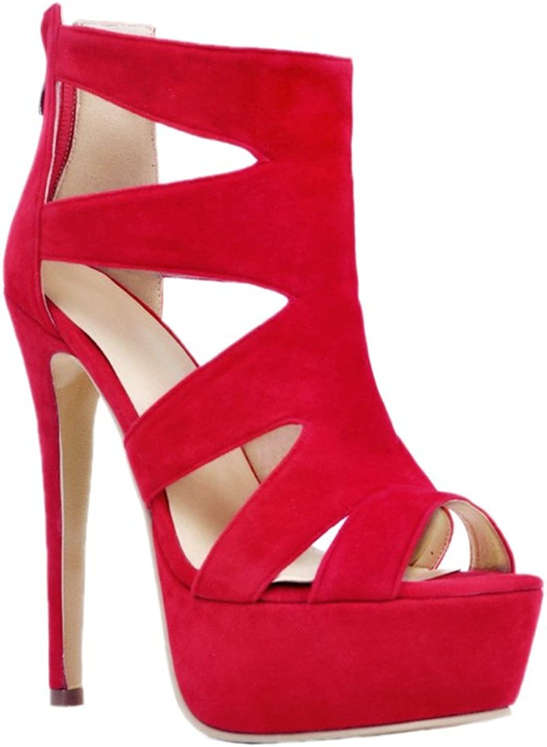CASSOCK Womens Cut-Out High Heel Party Office Peep Toe Sandals Fashion shoes