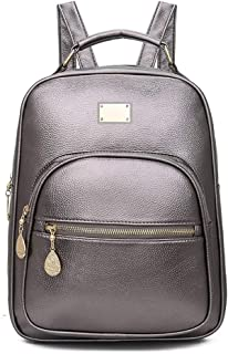 Solid Color Sports Small Backpack for Multiple Scenarios (Color : Silver)