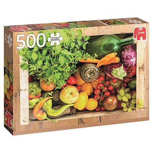 Jumbo- Fruit and Vegetable Box pcs Caja de Vegetales y Frutas, Puzzle de 500 Piezas (618531)