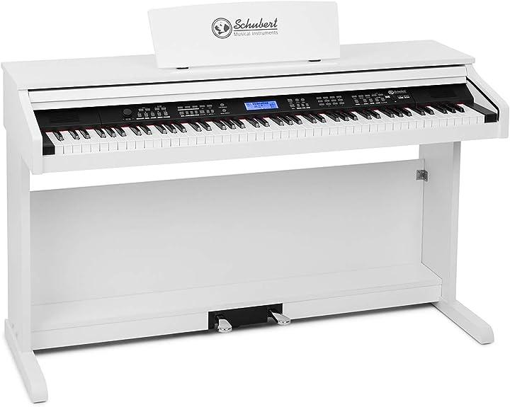 Pianoforte digitale schubert subi 88 mk ii - tastiera ,e-piano,88 tasti sensibili al tocco,360 toni,160 ritmi B07N2S5Q58