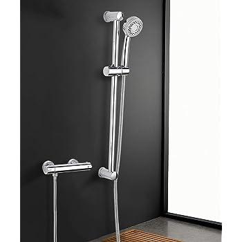 Bath Shower Mixer Set Kisimixer Shower System Thermostatic Mixer Shower With 3 Mode Shower Head For Bath Bar Adjustable Chrome Amazon Co Uk Diy Tools
