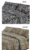 SpazioTessile Copriletto Estivo Copridivano 100% Cotone Piquèt Leopardo Zebra Maculato (Zebrato, 1 Piazza Singolo)