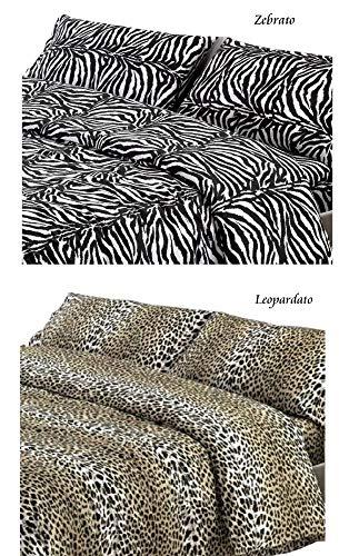SpazioTessile Copriletto Estivo Copridivano 100% Cotone Piquèt Leopardo Zebra Maculato (Zebrato, 1 Piazza e Mezza)