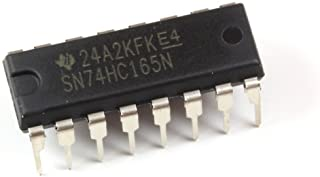 Major Brands 74HC165 ICS and Semiconductors, 8 Bit Parallel Load Shift Register, DIP 16 (Pack of 15)