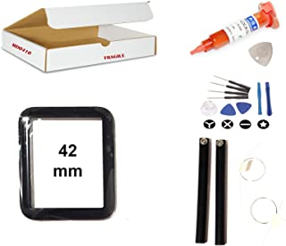 Screen Repair Kit Compatible for Apple Watch Series 3 (42mm) Model A1861 A1891 A1892 - Front Glass Lens Replacement