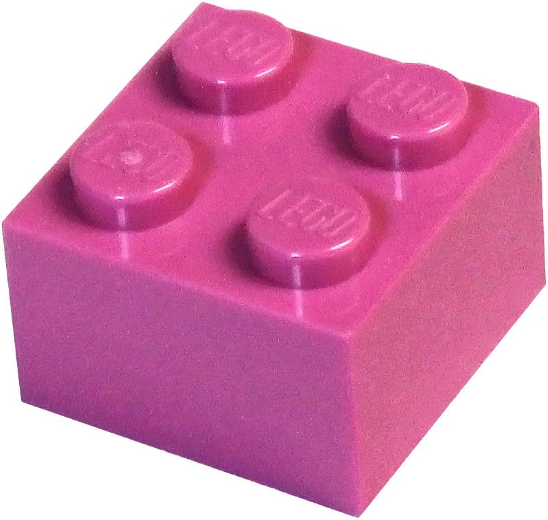 LEGO Parts and Pieces  Dark Pink (Bright Purple) 2x2 Brick x200