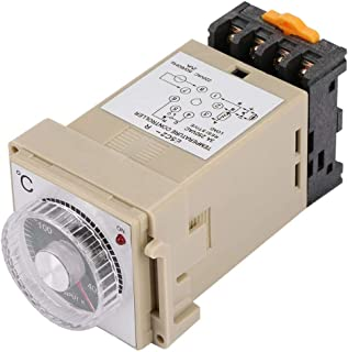 Temperature Controller,Analog Dial Thermostat,Integrated Intelligent Temperature Control Sensor,E5C2-R DIN-Rail Type for switchgear,substation,Transformer