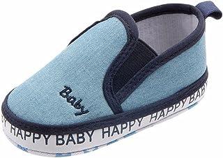 WARMSHOP Toddler Boys Girls Slip-On Leopard Letter Print Casual Shoes Infant Leather Anti-Slip Lazy Flat Prewalker Shoes