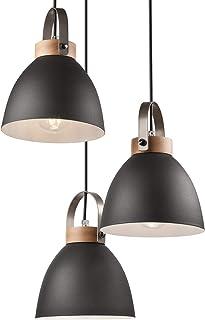 Lámpara colgante Lámpara de techo en metal E27 Lámpara industrial vintage Lámpara de sala Sala de estar moderna con cable ...