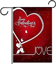 """Tuin Vlag Verticale Dubbelzijdige 28x40 """"Yard Outdoor Decoration.valentines dag poster kalligrafie"""