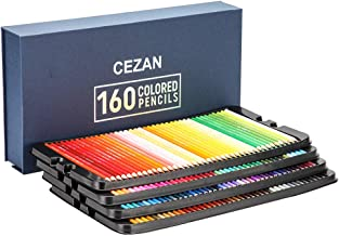 160 Colored Pencils Set - Coloring Pencils for Artists with Case, Ideal Colored Pencils for Adult Coloring Books, Doodling, Sketching